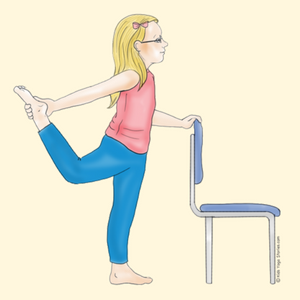 Dancer's Pose Using a Chair | Kids Yoga Stories