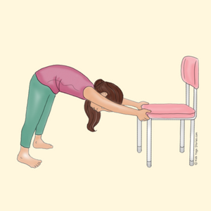 Downward-Facing Dog Pose Using a Chair | Kids Yoga Stories