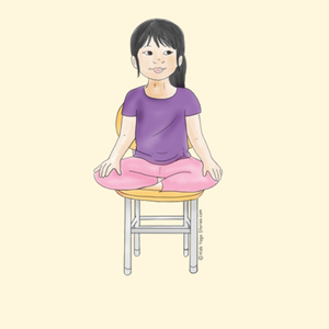 Easy Pose Using a Chair | Kids Yoga Stories