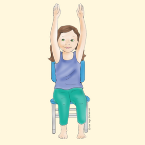Extended Mountain Pose Using a Chair | Kids Yoga Stories