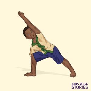 yoga poses for kids, side angle pose | Kids Yoga Stories