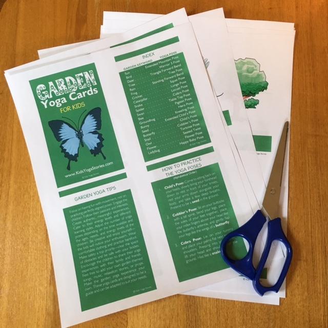 Garden Yoga Cards for Kids printed   Kids Yoga Stories