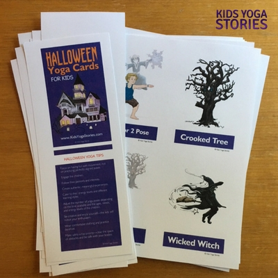 Halloween Yoga Cards for Kids - printed and cut | Kids Yoga Stories