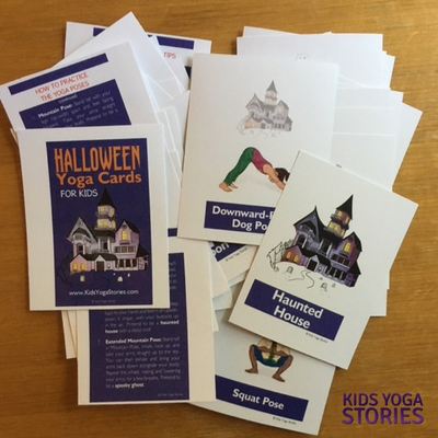 Halloween Yoga Cards for Kids pack | Kids Yoga Stories