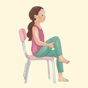 Knees to Chest Pose Using a Chair   Kids Yoga Stories