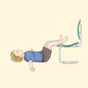 Legs Up the Chair Pose   Kids Yoga Stories