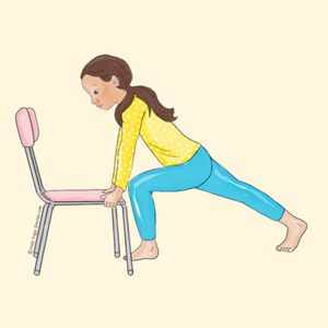 Lunge Pose Using a Chair | Kids Yoga Stories