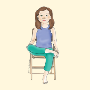 Pigeon Pose Using a Chair | Kids Yoga Stories