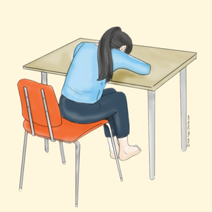 Resting Pose Using a Chair   Kids Yoga Stories