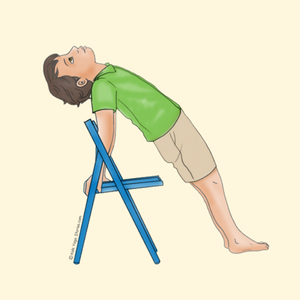Reverse Plank Pose Using a Chair | Kids Yoga Stories