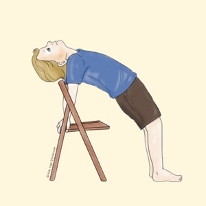 Reverse Table Top Pose Using a Chair | Kids Yoga Stories