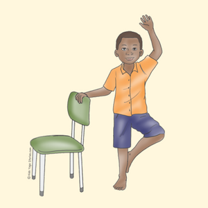 Tree Pose Using a Chair | Kids Yoga Stories
