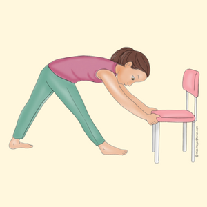 Triangle Forward Bend Using a Chair | Kids Yoga Stories