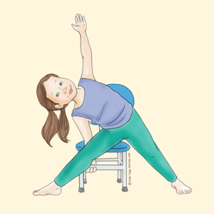 Triangle Pose Using a Chair | Kids Yoga Stories