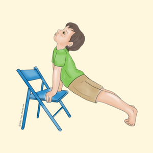 Upward-Facing Dog Pose Using a Chair | Kids Yoga Stories