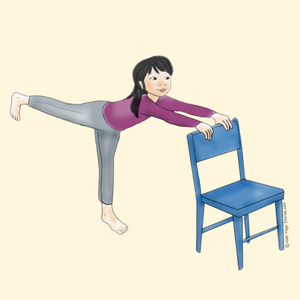 Warrior 3 Pose Using a Chair | Kids Yoga Stories