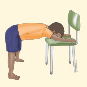 Wide-Legged Forward Bend Using a Chair | Kids Yoga Stories