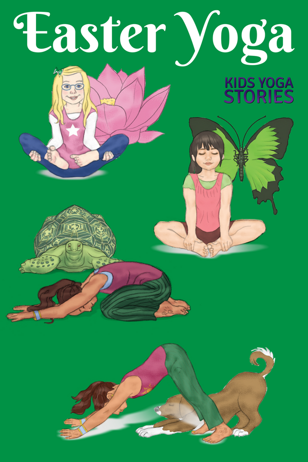 Easter yoga poses for kids to add movement to your Easter celebrations | Kids Yoga Stories