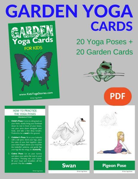 Garden Yoga Cards for Kids PDF Download (English) Image