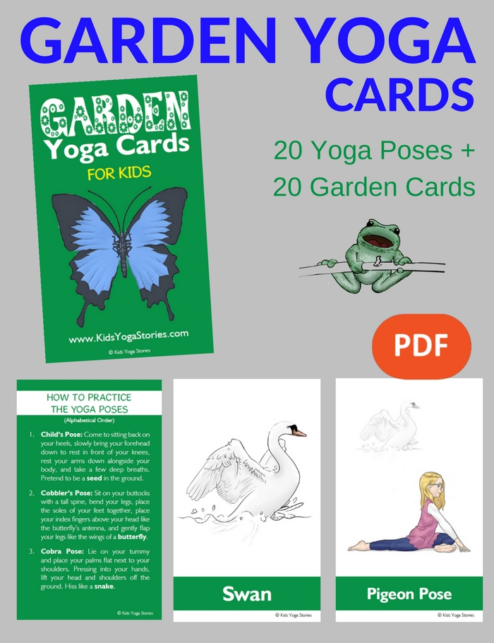 picture relating to Yoga Cards Printable titled Selection of Printable Yoga Playing cards for Little ones - Move inside
