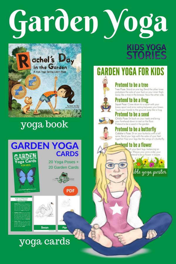 Garden Yoga Ideas for Kids (including garden yoga poster, garden yoga cards, and garden yoga book) | Kids Yoga Stories
