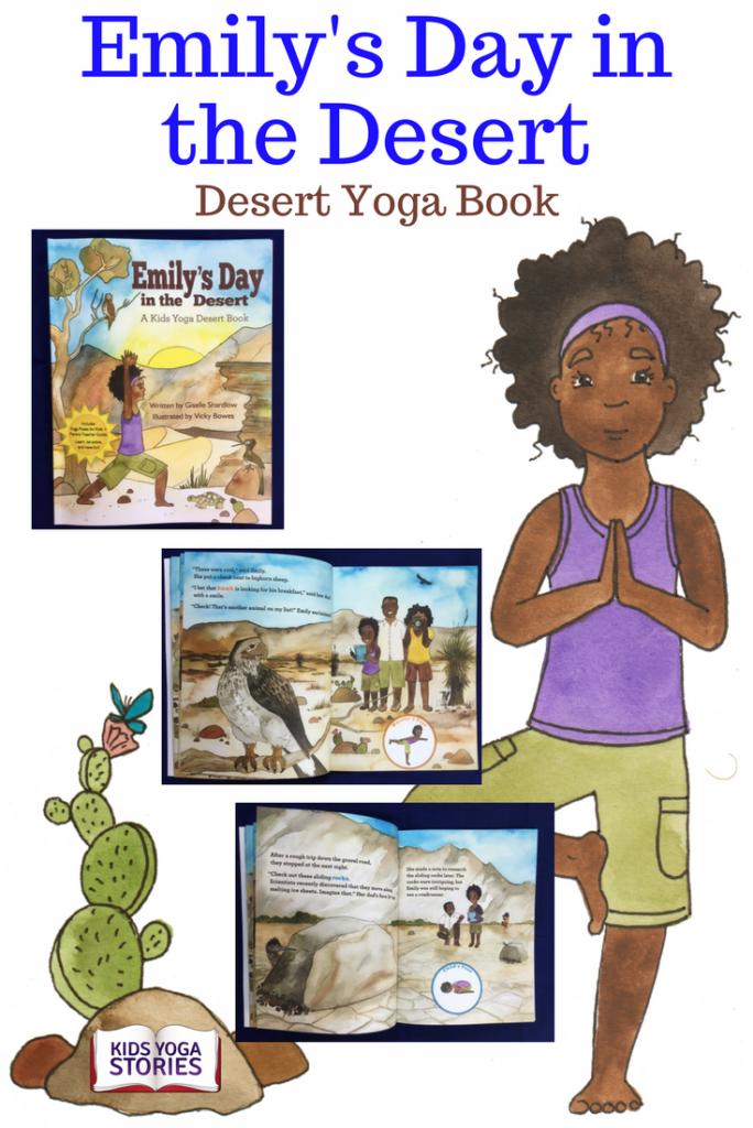 Desert yoga book for kids: Emily's Day in the Desert by Giselle Shardlow, Kids Yoga Stories