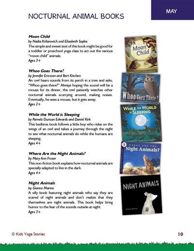 Kids Yoga Class Ideas PDF Download (English) Image