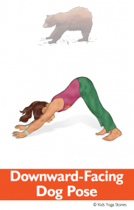 North American Animals Alphabet Yoga Cards - Downward-Facing Dog Pose | Kids Yoga Stories