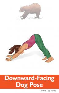 North American Animals Alphabet Yoga Cards - Downward-Facing Dog Pose | Kids Yoga Stories