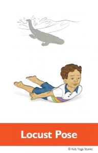 North American Animals Alphabet Yoga Cards - Alligator | Kids Yoga Stories