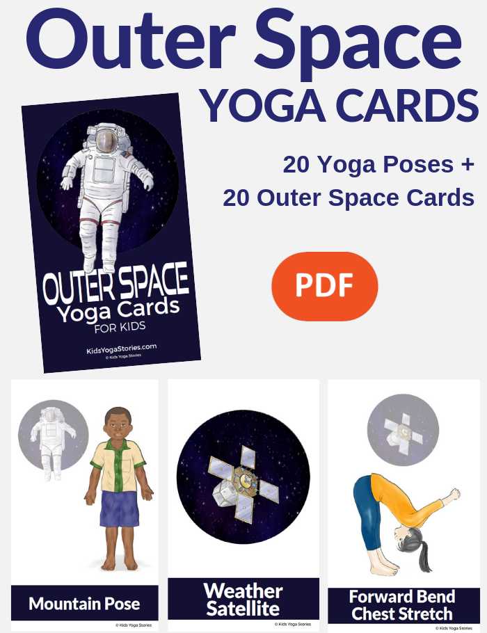 outer space yoga kids poses