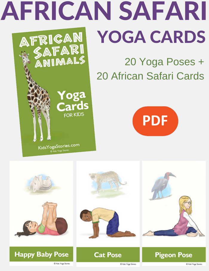 African Safari Yoga Cards for Kids | Kids Yoga Stories