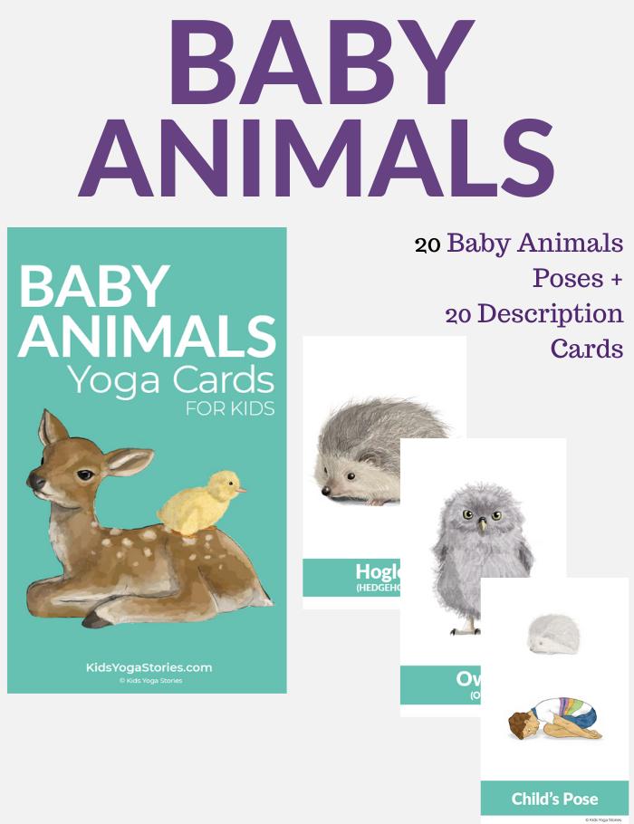 Baby animals yoga cards   Kids Yoga Stories