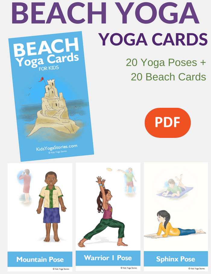 Beach Yoga Cards for Kids | Kids Yoga Stories