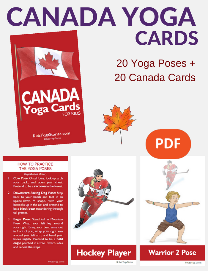 Canada Yoga Cards for Kids | Kids Yoga Stories