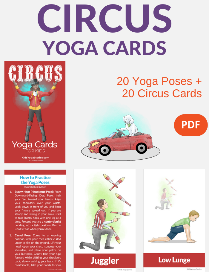 circus yoga cards for kids | Kids Yoga Stories