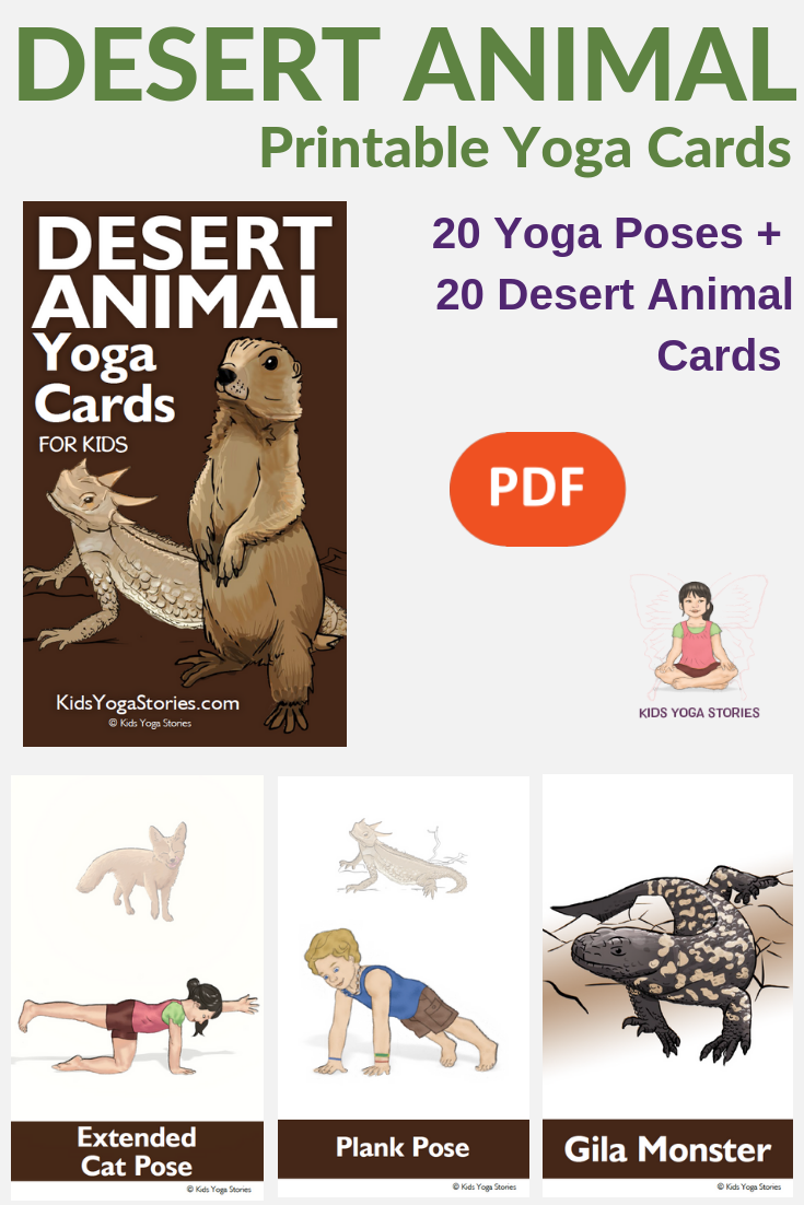 desert yoga poses, desert animals, yoga for kids, desert creatures | Kids Yoga Stories