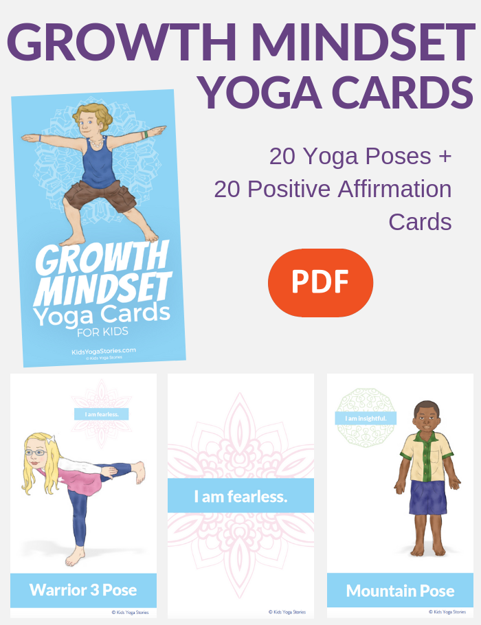 growth mindset for kids, growth mindset cards for kids | Kids Yoga Stories