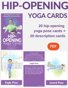 hip opening poses for kids, yoga poses for kids | Kids Yoga Stories