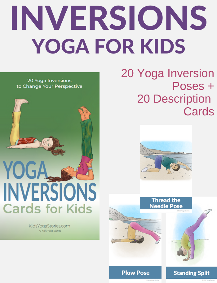 yoga inversions for kids from Kids Yoga Stories