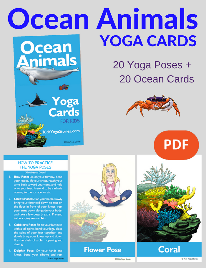 Ocean Animals Yoga Cards for Kids | Kids Yoga Stories