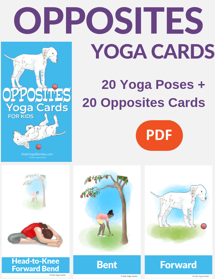 Opposites cards for kids | Kids Yoga Stories