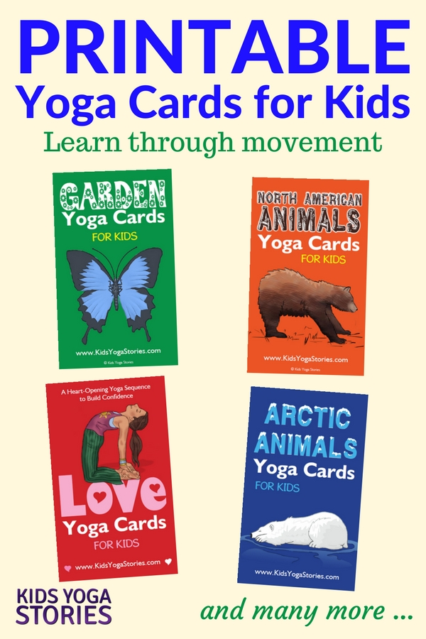 Collection of Printable Yoga Cards for Kids for your classroom, homeschool, or yoga studio | Kids Yoga Stories