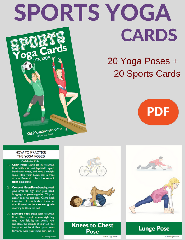 Sports Yoga Cards for Kids | Kids Yoga Stories