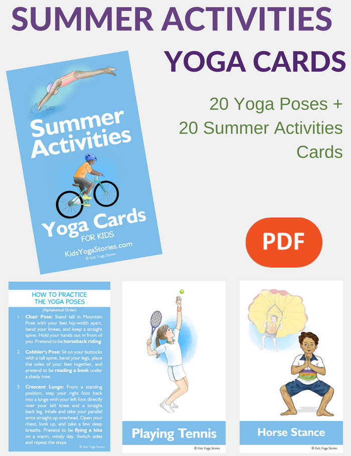 Summer Activities Yoga Cards for Kids | Kids Yoga Stories