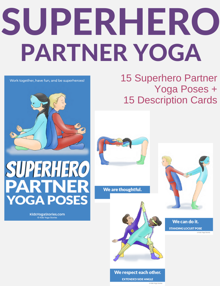 superhero yoga poses for kids | Kids Yoga Stories