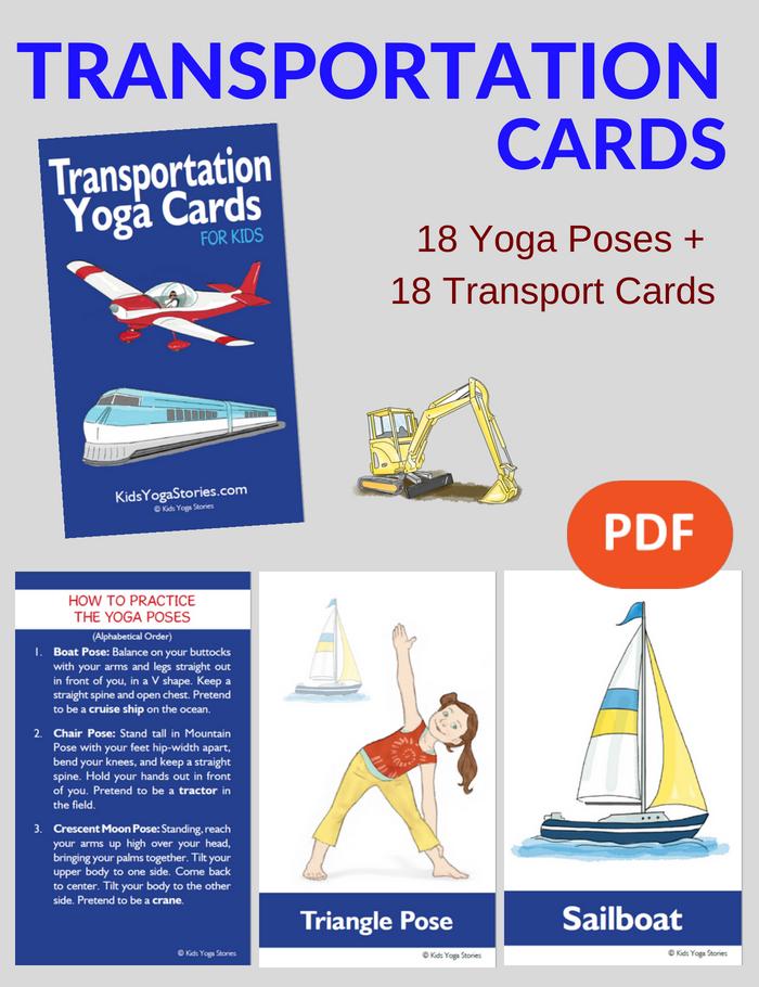 Transportation Yoga Cards for Kids | Kids Yoga Stories