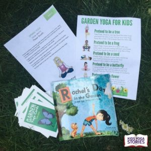 Sample pack of Kids Yoga Monthly subscription - Garden theme | Kids Yoga Stories