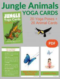 Jungle Animals Yoga Cards for Kids PDF Download Image