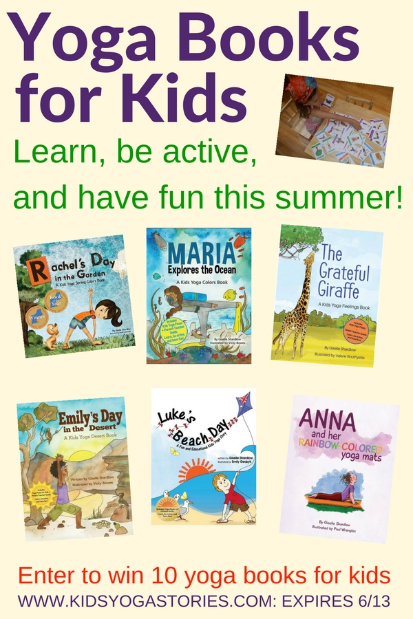 Enter to win 10 free yoga books for kids for your organization - to make reading fun and active this summer!   Kids Yoga Stories
